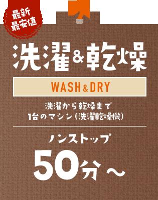 【最新最安値】洗濯&乾燥:洗濯から乾燥まで1台のマシン(洗濯乾燥機)|ノンストップ 50分~